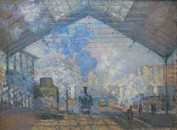 La Gare Saint-Lazare (1877) - Claude Monet